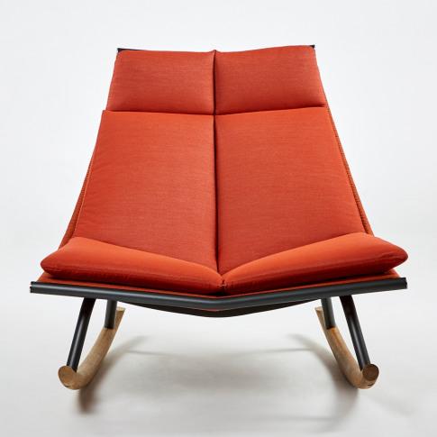 Laze 003 Rocking Chair Smoke & Orange