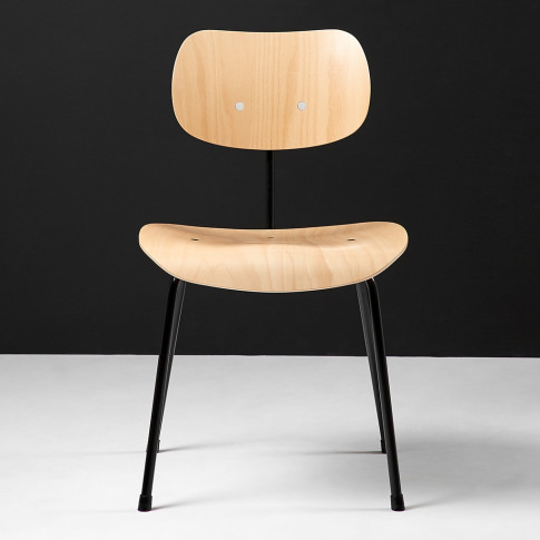 Se68 Dining Chair Natural Beech & Black