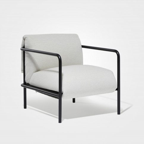 Fold Compact Armchair In Textured Stone