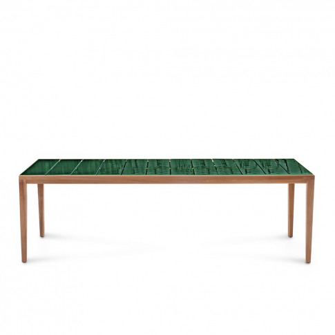 Teka 174 Dining Table Teak & Jade