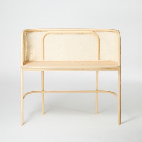 Latis Desk In Natural Ash & Vienna Straw