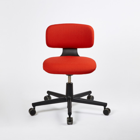 Rookie Office Chair Deep Black & Brick Volo Upholstery