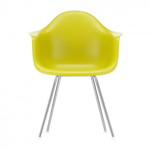 Dax Plastic Armchair Mustard & Chrome