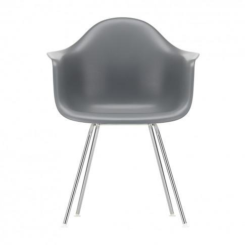 Dax Plastic Armchair Granite Grey & Chrome