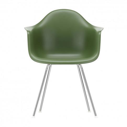 Dax Plastic Armchair Forest & Chrome