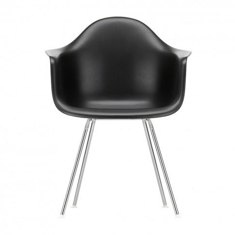 Dax Plastic Armchair Deep Black & Chrome