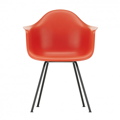 Dax Plastic Armchair Poppy Red & Dark