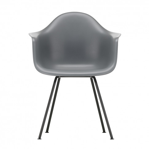 Dax Plastic Armchair Granite Grey & Dark