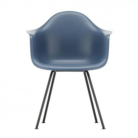 Dax Plastic Armchair Sea Blue & Dark