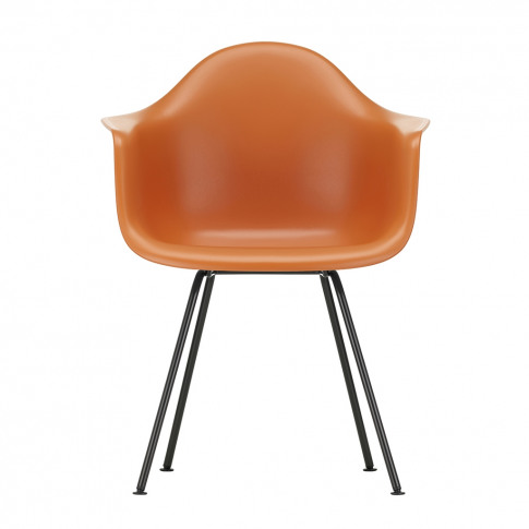 Dax Plastic Armchair Rusty Orange & Dark