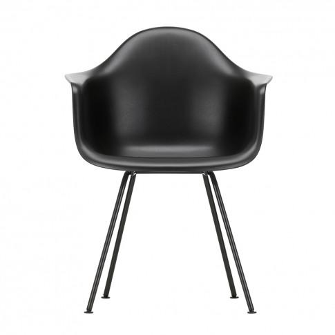 Dax Plastic Armchair Deep Black & Dark