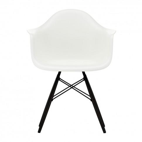 Daw Plastic Armchair White & Black Maple