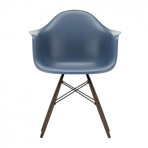 Daw Plastic Sea Blue Armchair & Dark Maple