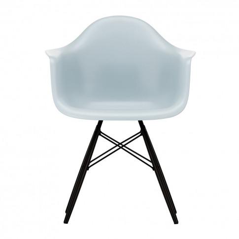 Daw Plastic Armchair Ice Grey & Black Maple