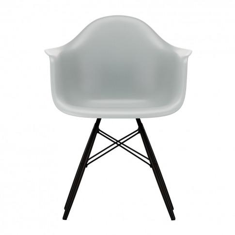 Daw Plastic Armchair Light Grey & Black Maple