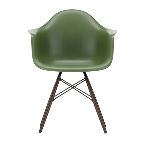 Daw Plastic Forest Armchair & Dark Maple