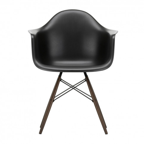 Daw Plastic Armchair Deep Black & Dark Maple
