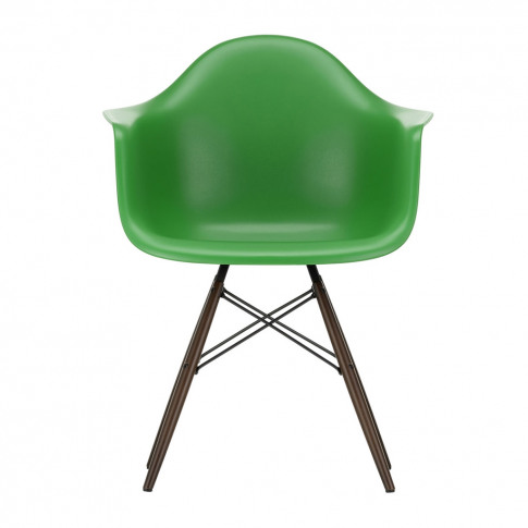 Daw Plastic Armchair Green & Dark Maple