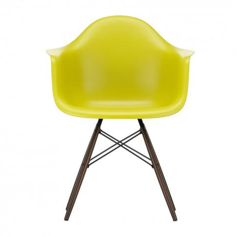 Daw Plastic Armchair Mustard & Dark Maple