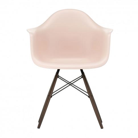 Daw Plastic Armchair Pale Rose & Dark Maple