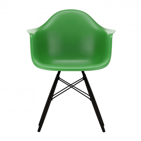 Daw Plastic Armchair Green & Black Maple