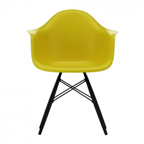 Daw Plastic Armchair Mustard & Black Maple