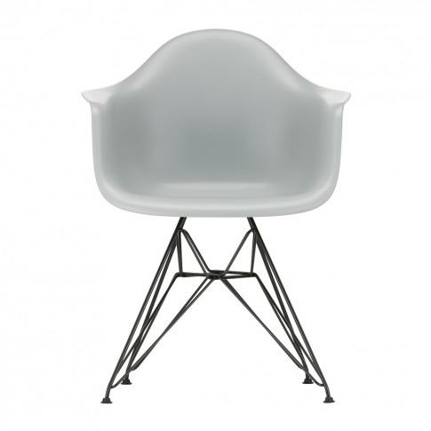 Dar Plastic Armchair Light Grey & Dark