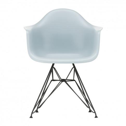 Dar Plastic Armchair Ice Grey & Dark