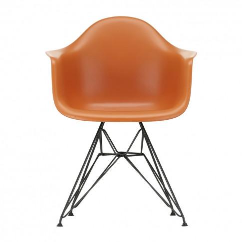 Dar Plastic Armchair Rusty Orange & Dark