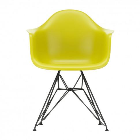 Dar Plastic Armchair Mustard & Dark