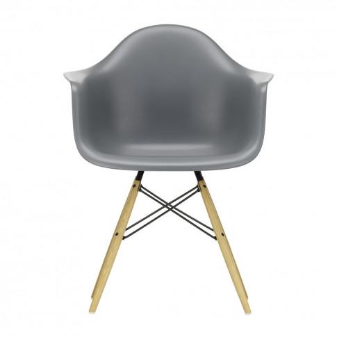 Daw Plastic Armchair Granite Grey & Golden Maple