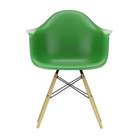 Daw Plastic Armchair Green & Golden Maple