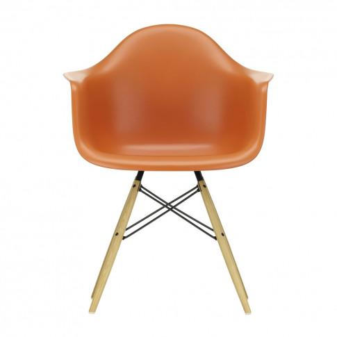 Daw Plastic Armchair Rusty Orange & Golden Maple