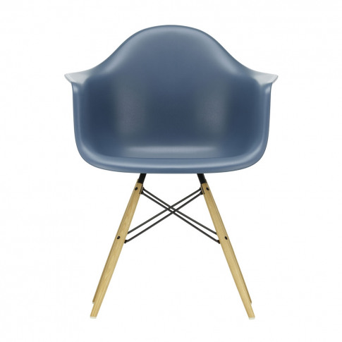 Daw Plastic Armchair Sea Blue & Golden Maple