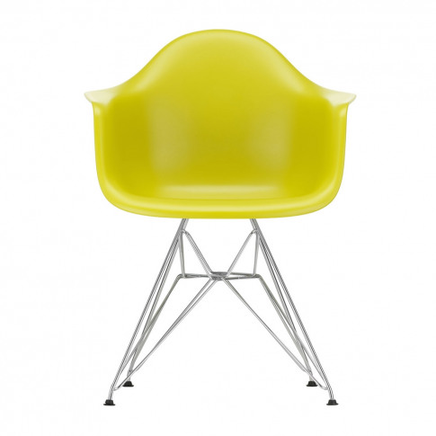 Dar Plastic Armchair Mustard & Chrome