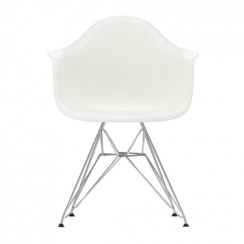 Dar Plastic Armchair White & Chrome