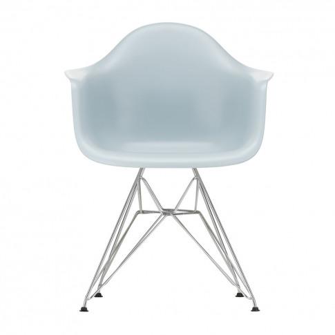 Dar Plastic Armchair Ice Grey & Chrome