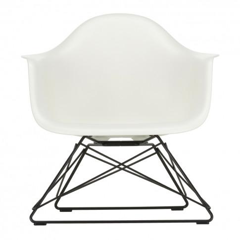 Lar Plastic Armchair White & Dark