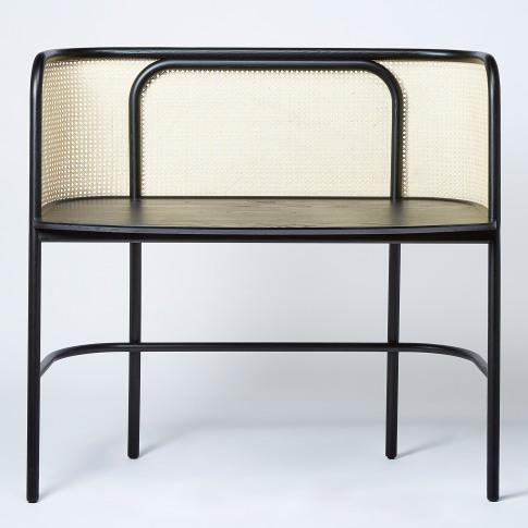 Latis Desk In Black Ash & Vienna Straw