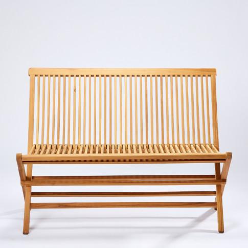Folding Outdoor Bench In Teak