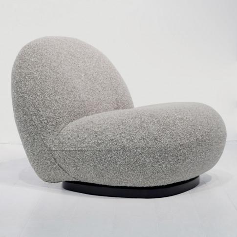 Pacha Swivel Lounge Chair In Chestnut & Black