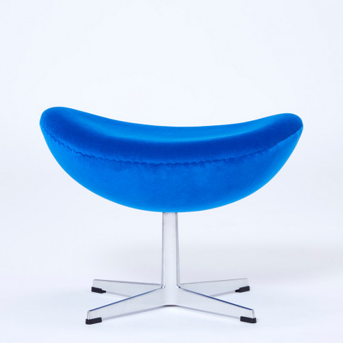 Exclusive Egg Footstool In Blue Velvet