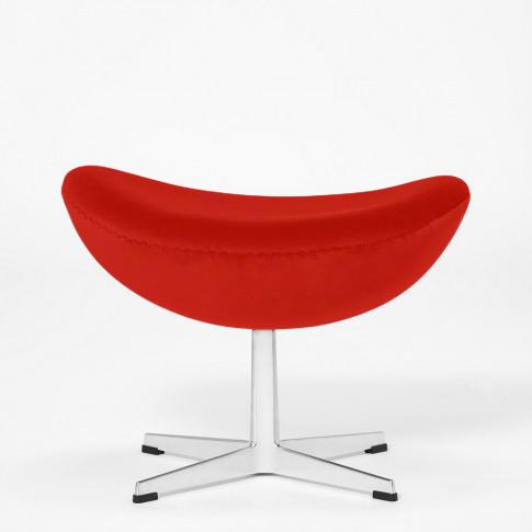 Exclusive Egg Footstool In Red Velvet