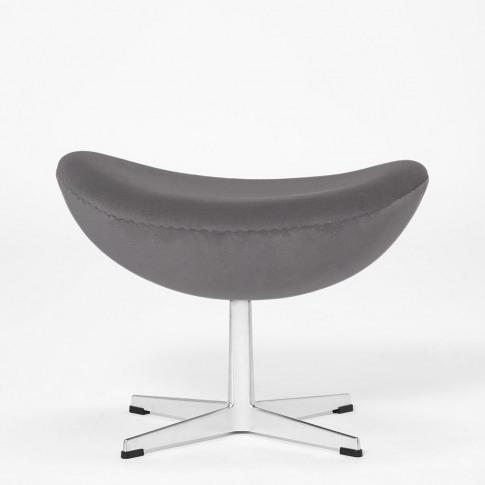 Exclusive Egg Footstool In Grey Velvet