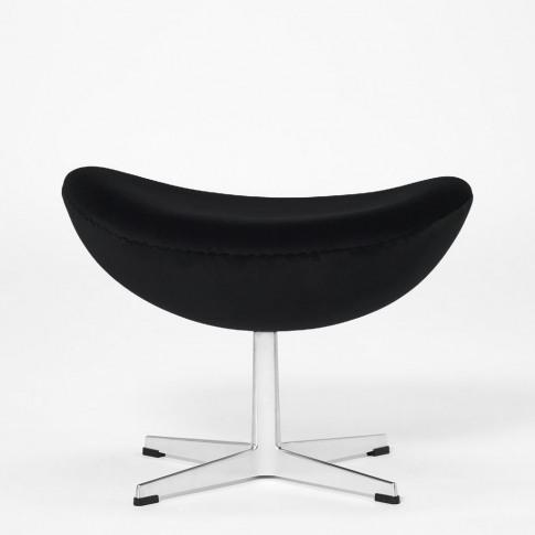 Exclusive Egg Footstool In Black Velvet