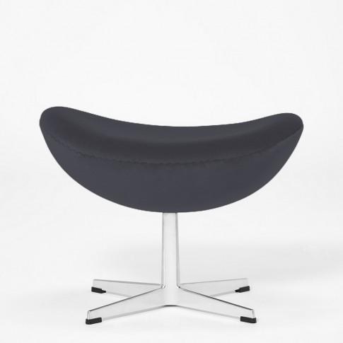 Exclusive Egg Footstool In Dark Grey Velvet