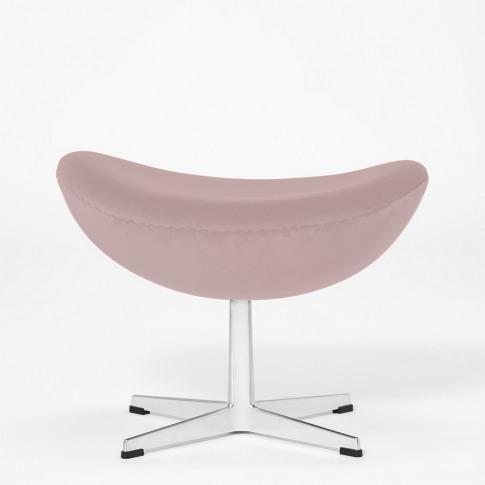 Exclusive Egg Footstool In Light Pink Velvet