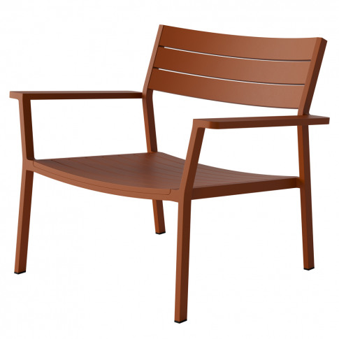 Eos Lounge Chair In Rust