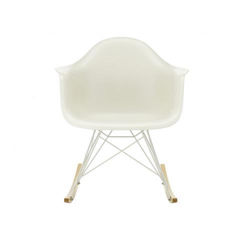 Rar Plastic Armchair In Pebble & White
