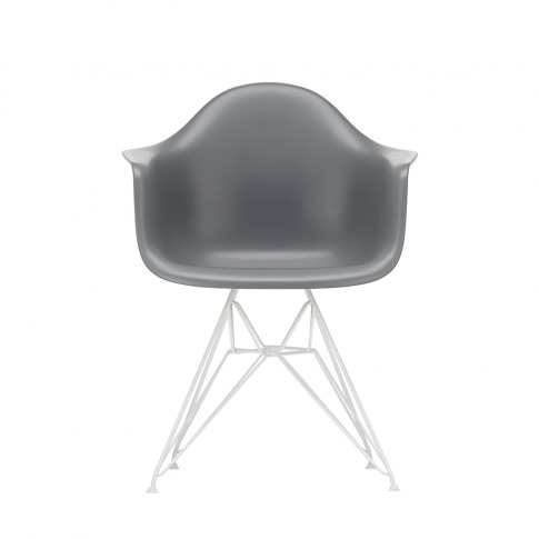 Dar Plastic Armchair In Granite Grey & White